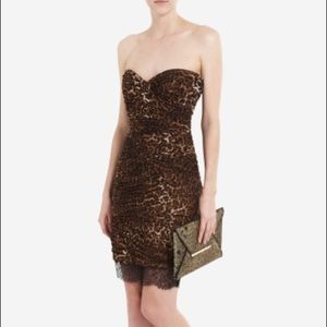 BCBG MAXAZRIA BOVARY Leopard Print Cocktail Dress
